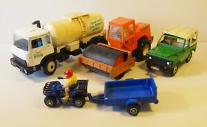 4x Britain's Vehicles inc. Milk Tanker, well-used, for spares or repair