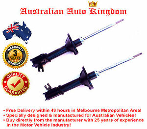 Pair Rear Strut Shock Absorbers for Ford Laser KF KH Sedan Hatch Coupe 1990-1999