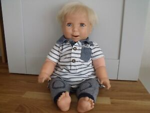 MATTEL 2000 CUTE 19 INCH VERY SOFT TOUCH VINYL BABY DOLL EYES MOVE AND TALKS