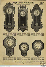 "1912 PAPER AD Ansonia Waterbury New Haven Regulator Wall Clocks 38"" Tall"