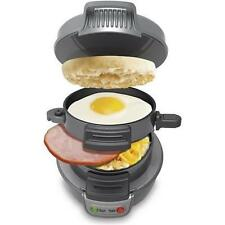 MWGEARS TD001SM Electric Breakfast Sandwich / Hamburger Maker, Gray