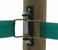 DOUBLE TAPE CORNER INSULATORS x 5 Electric Fencing Fence Start End 40mm Tape