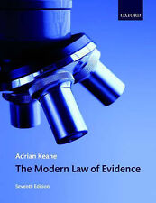 The Modern Law of Evidence by Keane, Adrian