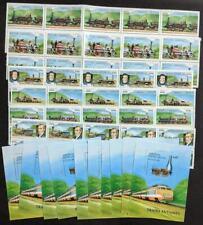 EDW1949SELL : LAOS 1997 Sc #1305-11 Trains 10 Cplt sets & 10 S/S VF MNH Cat $121
