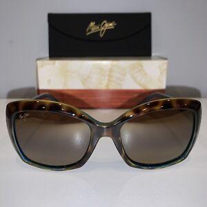 Polarized MAUI JIM Sunglasses ORCHID MJ 735-10P Tortoise on Peacock w/HCL Bronze