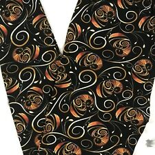 One Size Swirll Abstract Print Leggings Buttery Soft Pants 2-12 OS Black
