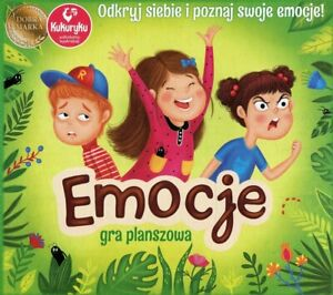 Emocje gra planszowa dla dzieci rodzinna nauka panowania nad emocjami Polska gra