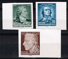 Germany Famous Poet Schiller imperforated stamps 1955 MNH