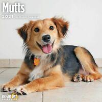 2021 Mutts 12 x 12 Wall Calendar Cute Puppy Dog