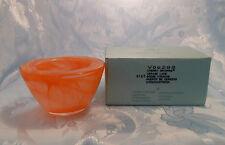 PartyLite Indulgences Exhilaration Orange Swirl Glass Candle Holder - P7166