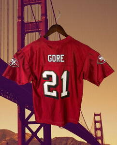 FRANK GORE SAN FRANCISCO 49ERS WOMEN V NECK JERSEY SIZE MEDIUM NFL LOGO