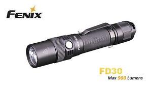 New Fenix FD30 Cree XP-L HI 900 Lumens Zoomable LED Flashlight Torch
