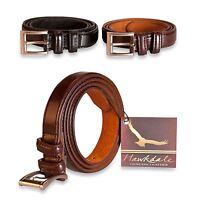 "Genuine Hawkdale 1"" Mens Thin Leather Belt 25mm Suit Belts 812-400"