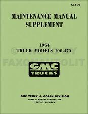 1954-1955 1st Series GMC Truck Shop Manual Supplement Power Steering Hydra-Matic