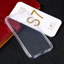 Samsung Galaxy S7 Case Ultra Slim Clear Silicon Gel Cover with dotted mesh