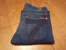 WOMENS SEVEN 7 FOR ALL MANKIND DOJO CROP JEANS 28 WAIST NWOT...VERY NICE!