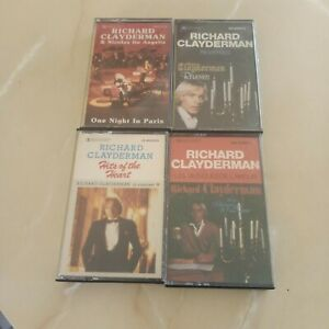 RICHARD CLAYDERMAN. REVERIES.ONE NIGHT IN PARIS.HITS OF THE HEART.LES MUSIQUES