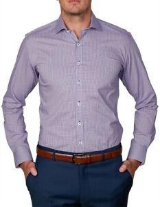 Geoffrey Beene Size L  Mens Formal Shirt Long Sleeve Workwear Office PURPLE