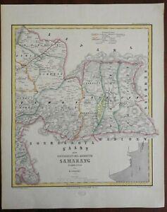 Eastern Samarang Dutch East Indies Indonesia Java c.1858 Haren large detail map