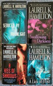 LAURELL K. HAMILTON MEREDITH MERRY GENTRY TITLES PARANORMAL ROMANCE 4 BOOK LOT