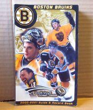 BOSTON BRUINS media guide Sergei Samsonov NHL records 2000 hockey Joe Thornton