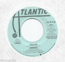 GENESIS * 45 * Abacab * 1981 * USA * DJ PROMO * Stereo /Mono White Red