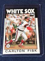 1986 TOPPS CARLTON FISK BASEBALL CARD #290  Chicago White Sox HOF toploader MINT