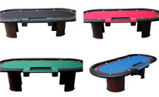 """96"""" Dealer Poker Table, U shaped legs, (2) drop boxes, choice speed cloth color"""