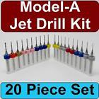 Ford Model-A Zenith Carburetor Jet Drill Kit - 20 Piece Set - SKU CDS103
