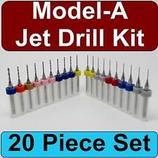 Ford Model-A Zenith Carburetor Jet Drill Kit - 20 Piece Set - SKU CDS103