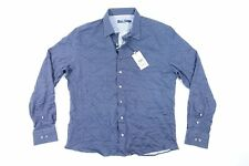 STONE ROSE IST9125 FLORAL XL DOTTED KNIT STRETCH BLUE BUTTON FRONT SHIRT NWT NEW