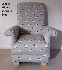 Grey Sheep Fabric Child's Chair Sophie Allport Kid's Nursery Chair Farm Animals