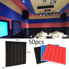 50Packs Soundproofing Acoustic Studio Striped Foam Tiles Wall Panels 12'' x 12''