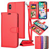 Wallet Case For iPhone XS Max Shockproof Leather Card Strap Flip Stand Cover US