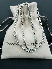 New ListingDavid Yurman Sterling Silver Box Chain Necklace 2.7mm 24'