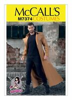 M7374 McCall's Sewing Pattern Costume Men's Yaya Han Trench Coat Matrix 46-52