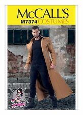 M7374 McCall's Sewing Pattern Costume Men's Yaya Han Trench Coat Matrix 38-44