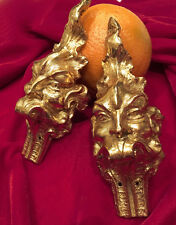 Antique Ormolu Satyr Demon Devil Evil Gargoyle Furniture figurative mount