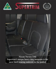 REAR Seat Cover Fit Nissan Navara D40 ST STX RX Premium Neoprene Waterproof