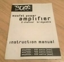 Boss Sound 2 Channel Amplifier AMP250N AMP400N AMP600N Instruction Book / Manual