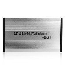 3.5'' USB 2.0 SATA External HDD HD Hard Drive Enclosure Case Box for PC Laptop