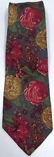 NEW Mens CAMBRIDGE CLASSICS 100% Silk Red & Multi Floral Necktie Tie Orig $95