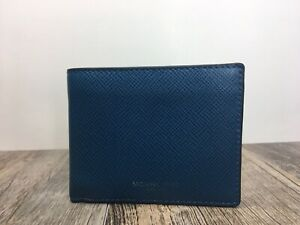 Michael Kors Mens Harrison Slim RFID Billfold Wallet Ocean