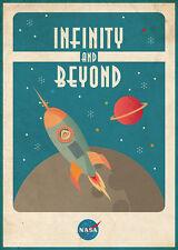 To Infinity and Beyond NASA METAL TIN SIGN POSTER WALL PLAQUE