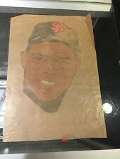1960'S WILLIE MAYS SAN FRANCISCO GIANTS 8.5X12 TRANSFER DECAL TATOO ? NEVER SEEN