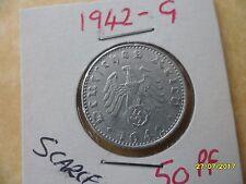 German 50 Reichspfennig 1942-G Third Reich Aluminium Coin WW2 pf