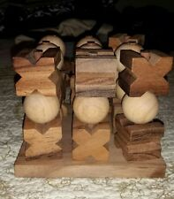 3-D Tic Tac Toe Game Wooden for Kids and Adults Noughts and Crosses Board Game