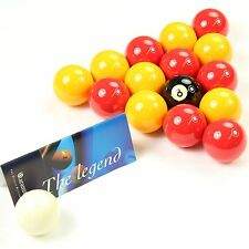 "Aramith PREMIER Red & Yellow 2"" Pool Balls + 1 7/8"" Cue Ball - Suitable for Pubs"