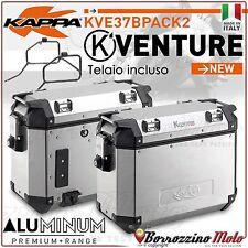 VALIGIE LATERALI KAPPA 37LT K-VENTURE ALLUMINIO TELAIO SUZUKI V-STROM 1000 02-11
