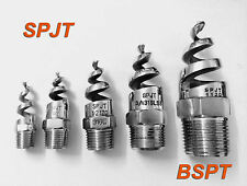 "50 pcs New SPJT 316L Stainless Steel Spiral Cone Spray Nozzle 3/8 "" BSPT"